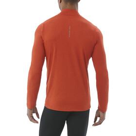 asics LS 1/2 Zip Jersey Men red clay heather